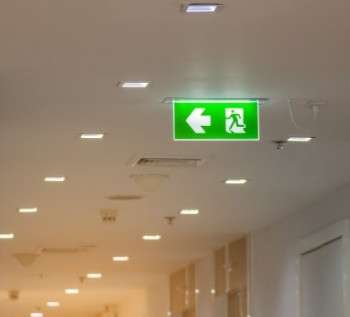 Company policy fire exit sign
